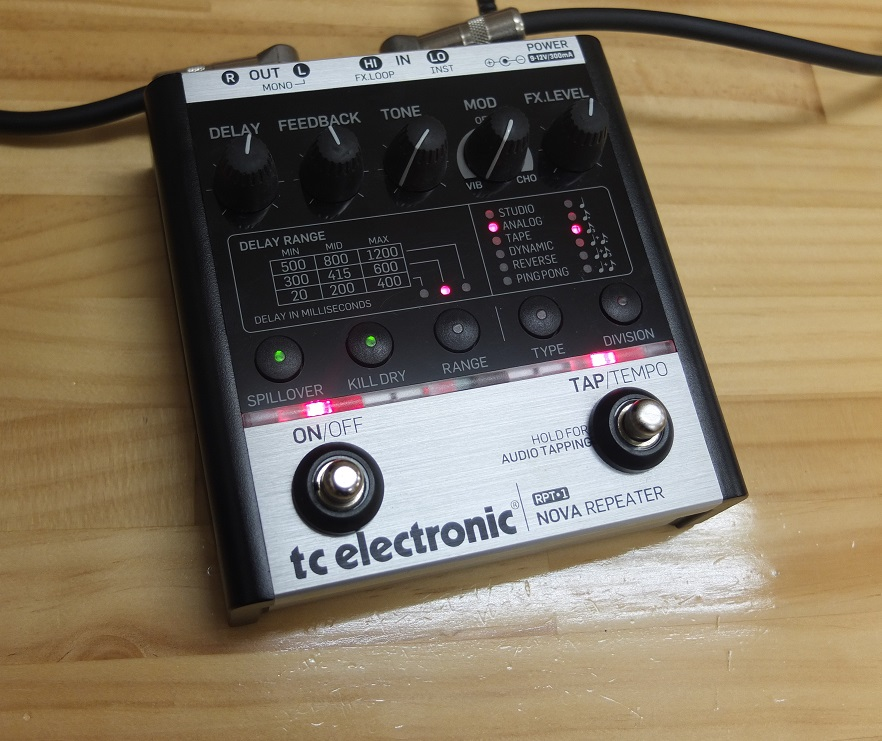 t.c.electronicの使いやすいディレイ、Nova Repeater