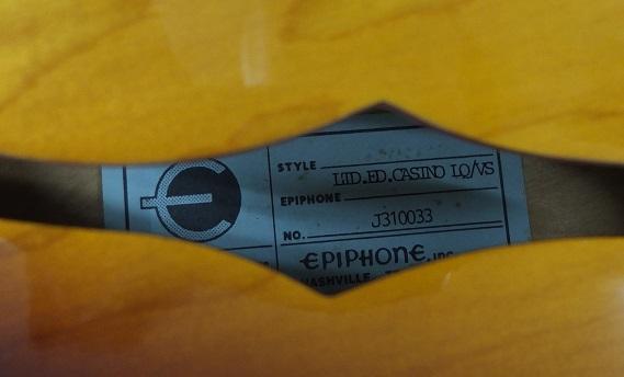 Epiphone casino lq