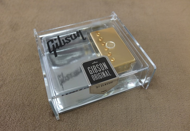 Gibsonの名ピックアップ57Classic Gold!