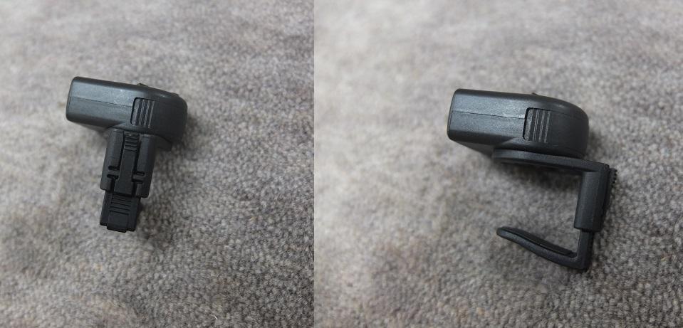 クリップは挟む場所の厚さ、向きによって調整できます。