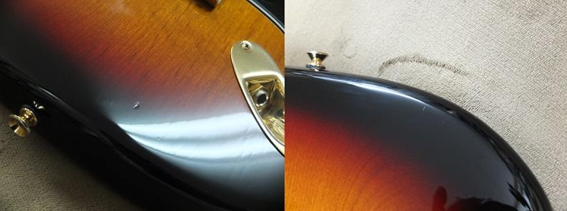 弾きこまれていた割にはきれいなボディですがいくつかの傷・打痕があります。