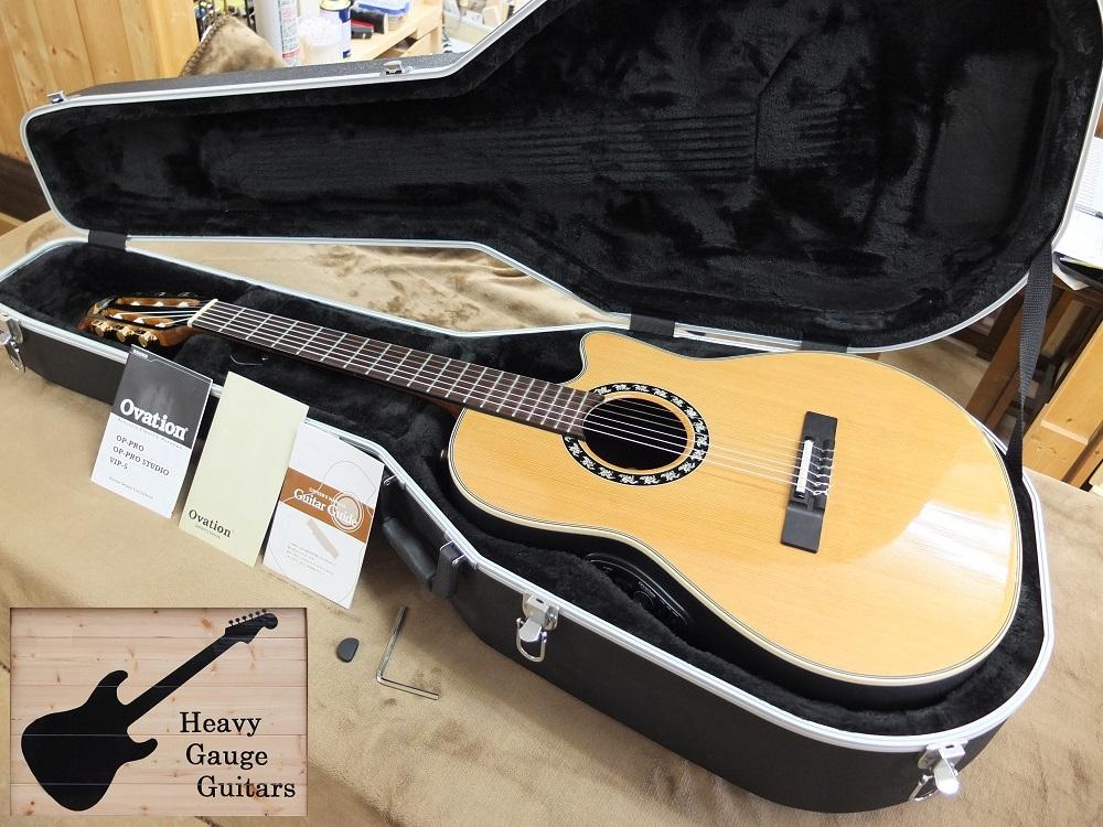 Ovationのガット弦エレアコ2073AX-4、美品!