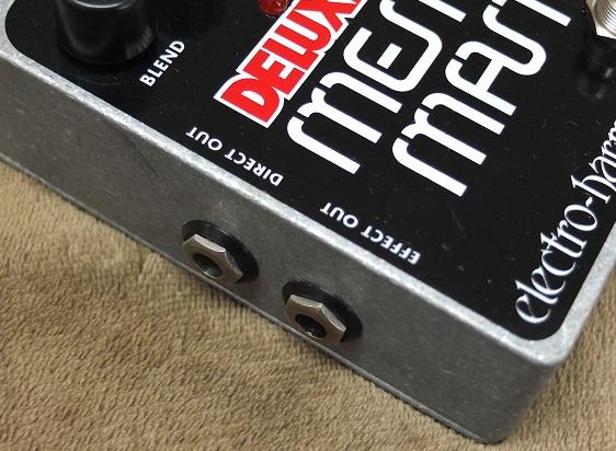 アウトプットは2台のアンプが用意できればディレイ音とドライ音を別々に出力可能。勿論、アンプ一台でモノラル出力もOK!